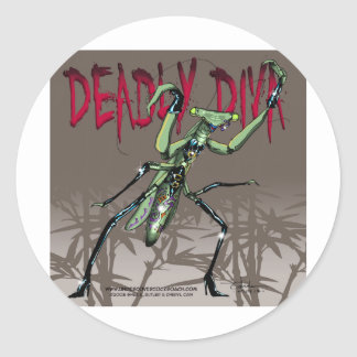 Deadly Diva Classic Round Sticker