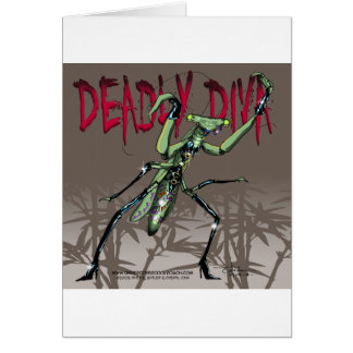 Deadly Diva Greeting Card