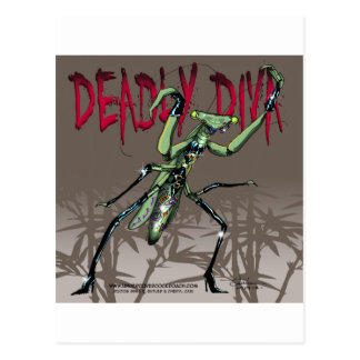 Deadly Diva Postcard