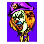 Deadly Evil Clown Post Cards