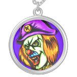 Deadly Evil Clown Round Pendant Necklace