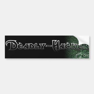 Deadly-Hackers Bumper Sticker