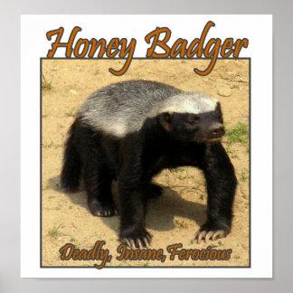 Deadly Insane Ferocious Honey Badger Print