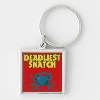 Deadly Silver-Colored Square Keychain
