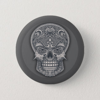Deadly Love Skull Pinback Button