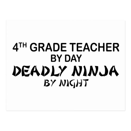 Deadly Ninja by Night - 4th Grade Postcard