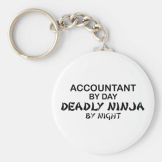 Deadly Ninja by Night - Accountant Basic Round Button Keychain