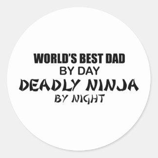 Deadly Ninja by Night - Best Dad Classic Round Sticker