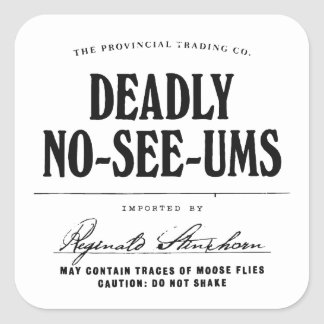 Deadly No-See-Ums - apothecary label Square Stickers