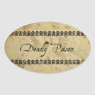 Deadly Poison Stickers (oval)