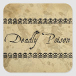 Deadly Poison Stickers (square)