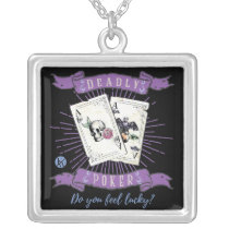 Deadly Poker - A Dealy Game of Chance Silver Plated Necklace