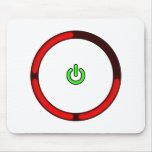 Deadly Red Ring Mouse Pad