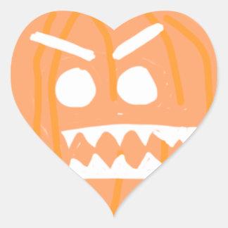 Deadly smile heart sticker