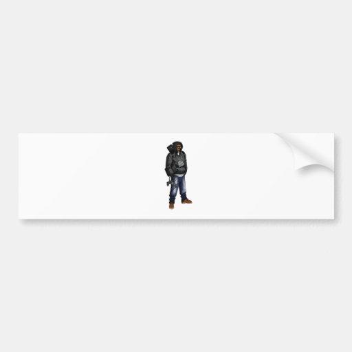 Deadly X Grey Car Bumper Sticker