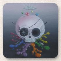 skull, paint, rainbow, sugar, fueled, sugarfueled, michael, banks, coallus, sugarskull, cute, creepy, [[missing key: type_fuji_coaste]] com design gráfico personalizado