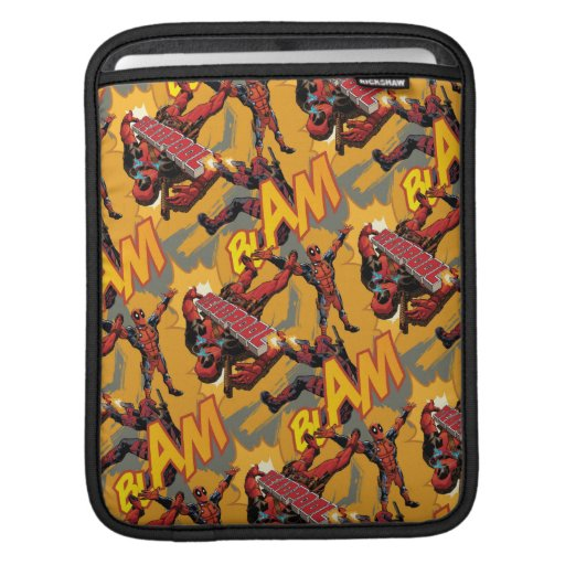 """Deadpool """"Blam"""" Pattern iPad Sleeve"""