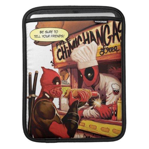 Deadpool Chimichanga Trap iPad Sleeve