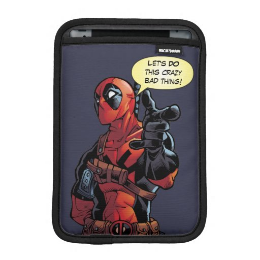Deadpool Closeup Pointing iPad Mini Sleeve