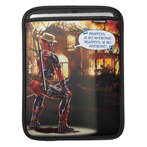 Deadpool Dancing To Fire iPad Sleeve