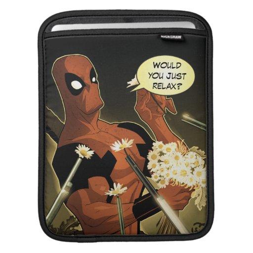 Deadpool Disarms With Flowers iPad Sleeve