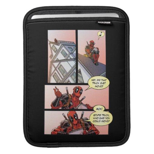 Deadpool Drawing on the Roof iPad Sleeve