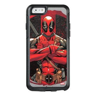 Deadpool en logotipo de la salpicadura de la funda otterbox para iPhone 6/6s