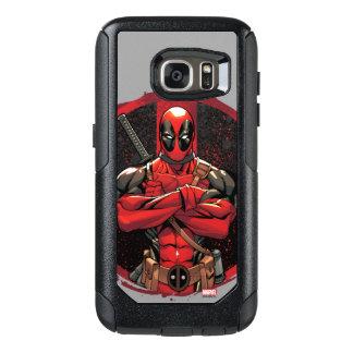 Deadpool en logotipo de la salpicadura de la funda otterbox para samsung galaxy s7