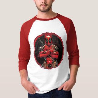 Deadpool en logotipo de la salpicadura de la playera