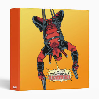 Deadpool Hanging From Harness 3 Ring Binder