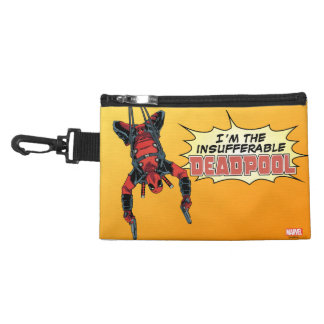 Deadpool Hanging From Harness Accessories Bags