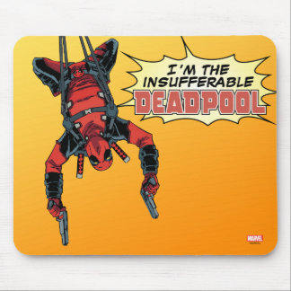 Deadpool Hanging From Harness Mouse Pad