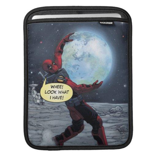 Deadpool Holding The Earth iPad Sleeve