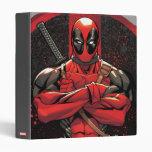 Deadpool in Paint Splatter Logo Binder