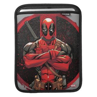 Deadpool in Paint Splatter Logo iPad Sleeve