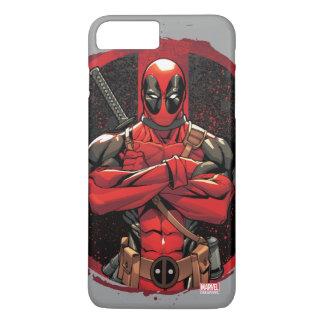 Deadpool in Paint Splatter Logo iPhone 8 Plus/7 Plus Case