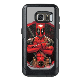 Deadpool in Paint Splatter Logo OtterBox Samsung Galaxy S7 Case