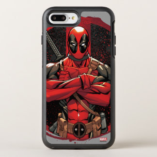 Deadpool in Paint Splatter Logo OtterBox Symmetry iPhone 7 Plus Case