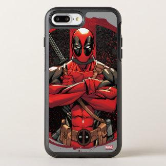 Deadpool in Paint Splatter Logo OtterBox Symmetry iPhone 8 Plus/7 Plus Case