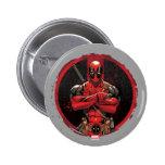 Deadpool in Paint Splatter Logo Pinback Button