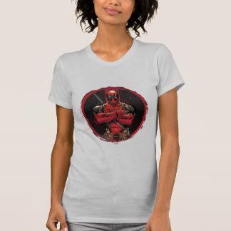 Deadpool in Paint Splatter Logo Shirt