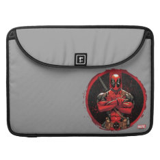 Deadpool In Paint Splatter Logo Sleeve For Macbook Pro at Zazzle