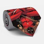 Deadpool in Paint Splatter Logo Tie