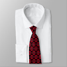 Deadpool Logo Neck Tie at Zazzle