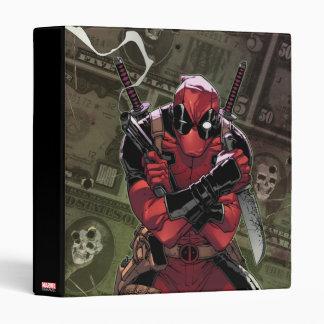 Deadpool Money 3 Ring Binder