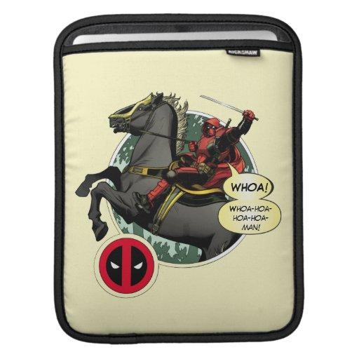 Deadpool on Horseback iPad Sleeve