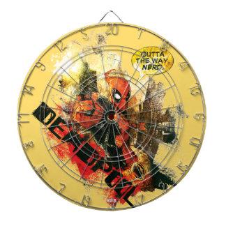 Deadpool Outta The Way Nerd Dartboards