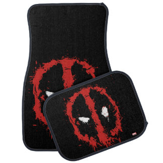 Deadpool Paint Splatter Logo Car Mat