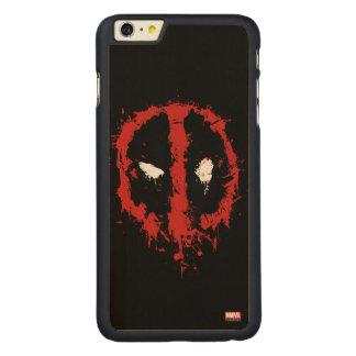 Deadpool Paint Splatter Logo Carved Maple iPhone 6 Plus Slim Case