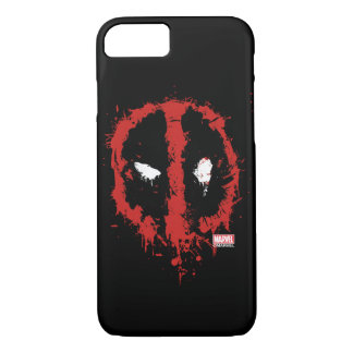 Deadpool Paint Splatter Logo iPhone 7 Case